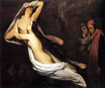 The Ghosts of Paolo and Francesca Appear to Dante and Virgil by  Ary Scheffer (Painting ID: CL-0226-KA)