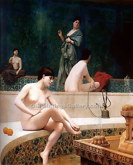 """The Harem Bath 70"" by  Jean Leon Gerome"