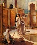 The Harem Bath by Ernst Rudolph 56  (Painting ID: EI-1156-KA)