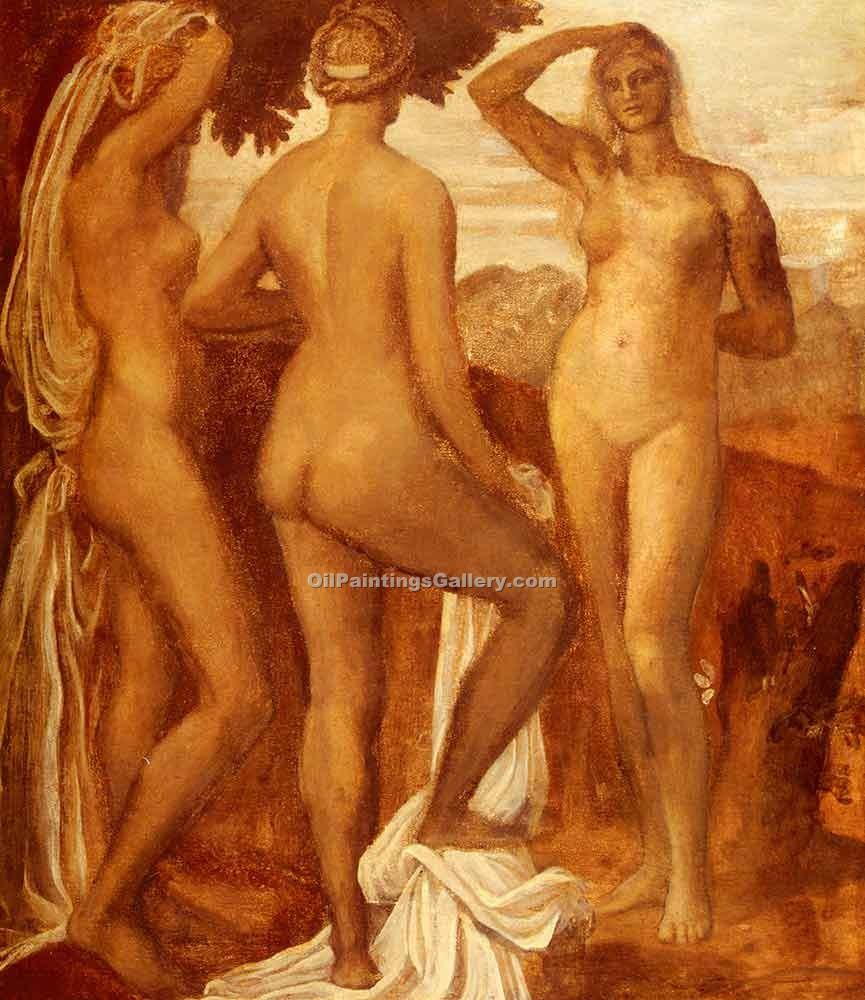 """The Judgment of Paris 52"" by  George Watts"