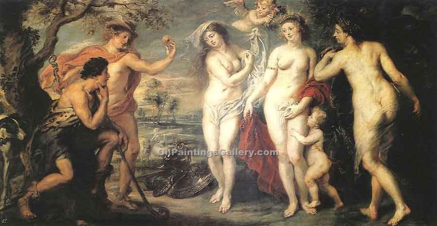 The Judgment of Paris 75 by Rubens Peter Paul | Modern Painting Gallery - Oil Paintings Gallery