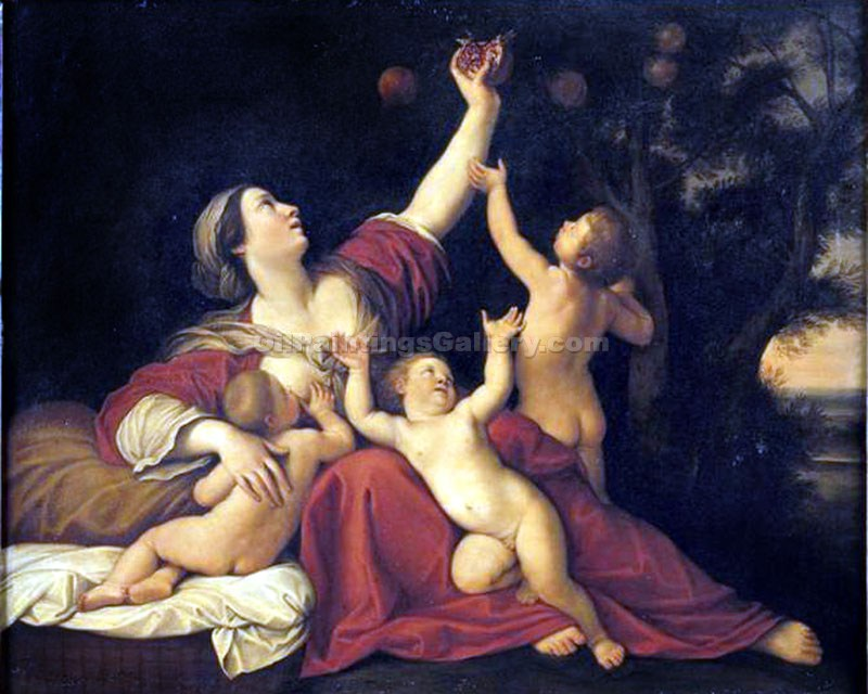 """The Lady Fertility"" by  Francesco Albani"