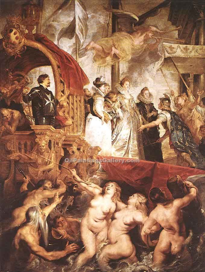 """The Landing of Marie de Medici at Marseilles"" by  Peter Paul Rubens"
