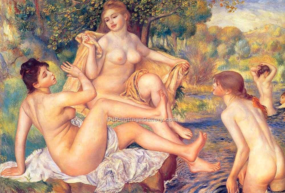 """The Large Bathers"" by  Pierre Auguste Renoir"