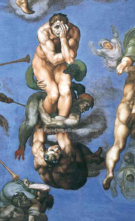 """The Last Judgement (detail) 32"" by  Buonarroti Michelangelo"