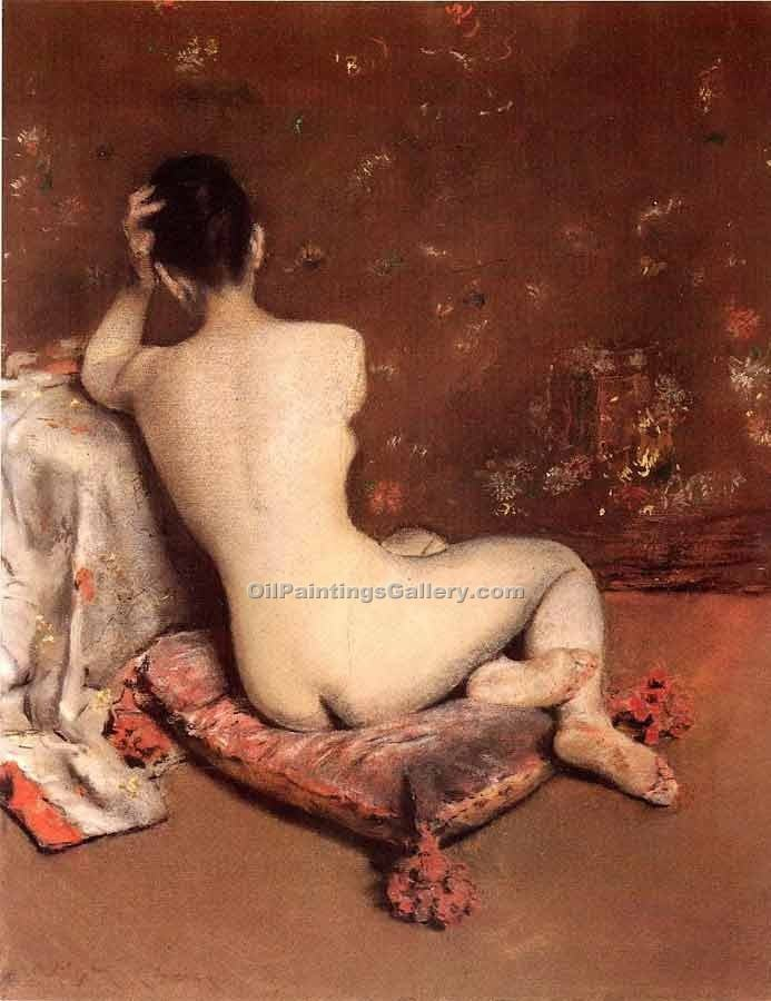 """The Model 96"" by  William Merritt Chase"