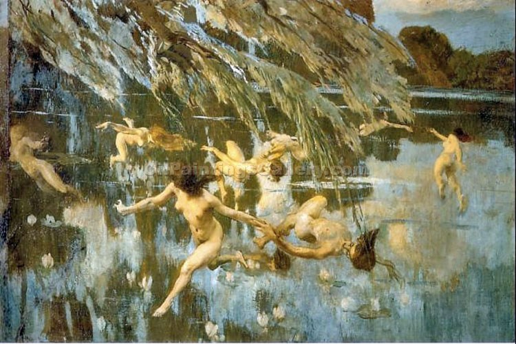 """The Nymphs"" by  Ettore Tito"