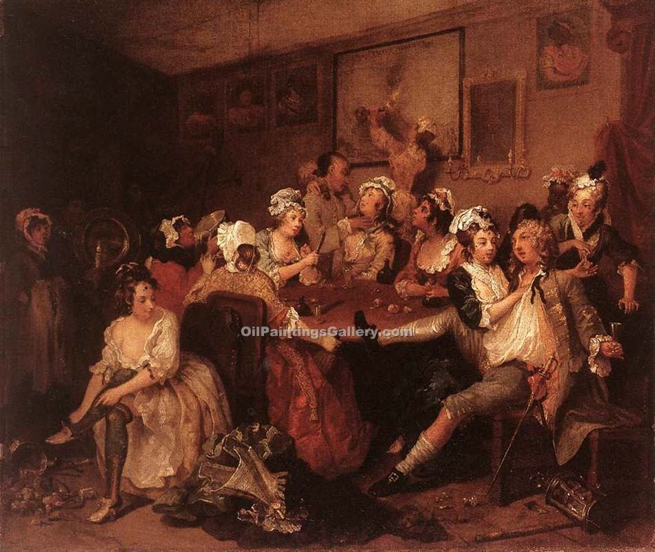 """The Orgy"" by  William Hogarth"