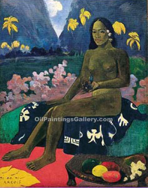 """The Seed of the Areoi"" by  Paul Gauguin"