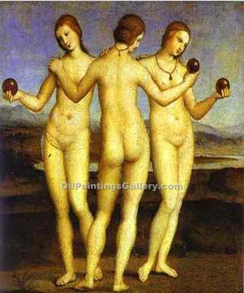 """The Three Graces 52"" by  Sanzio Raphael"
