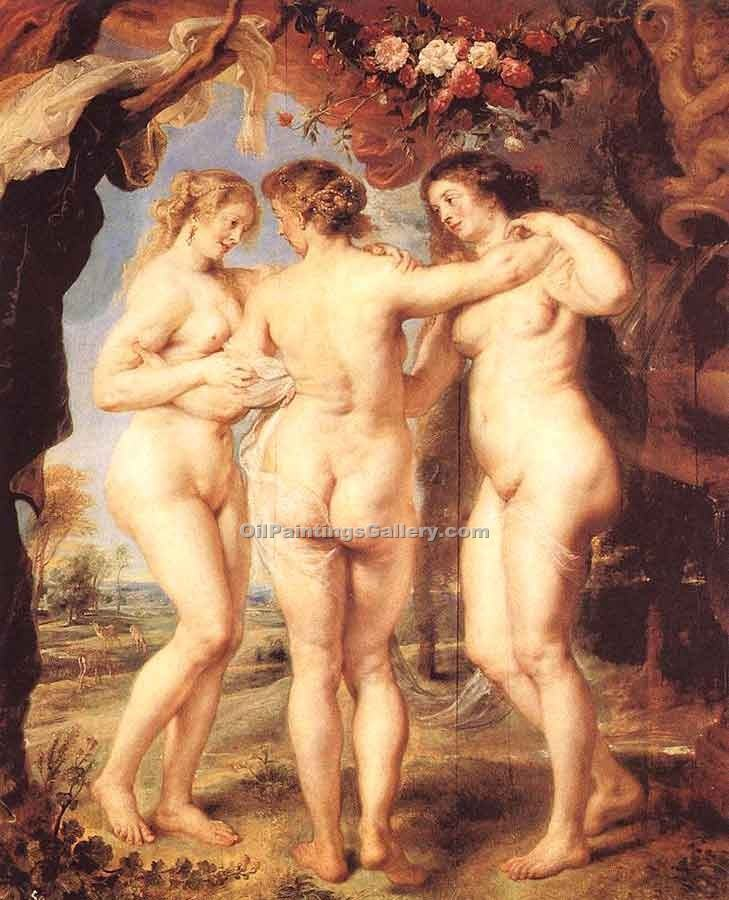 """The Three Graces 74"" by  Peter Paul Rubens"