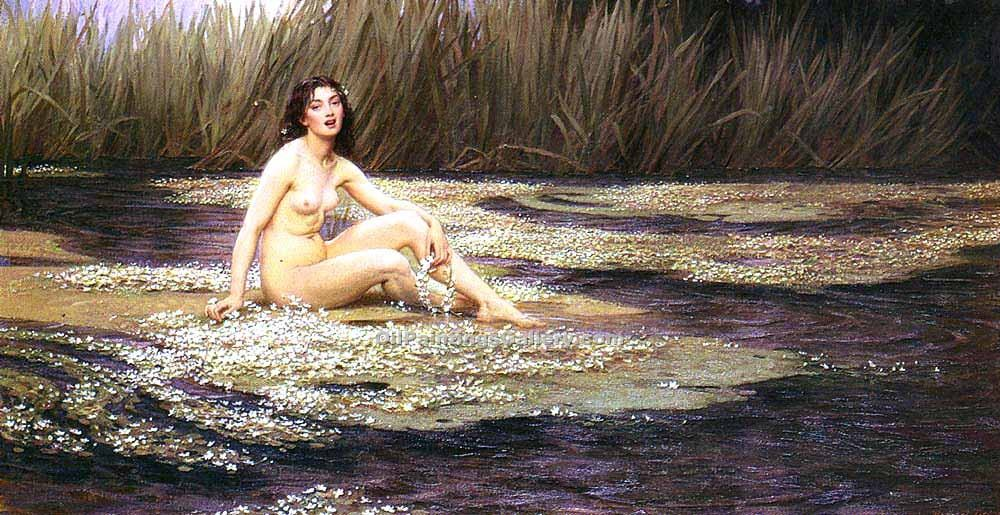 """The Water Nymph 08"" by  Herbert James Draper"