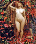 The Woman, The Man, and the Serpent by  John Byam Liston Shaw (Painting ID: ED-0730-KA)
