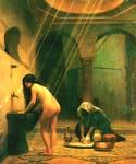 Turkish Woman Bathing by  Jean Leon Gerome (Painting ID: EI-1169-KA)