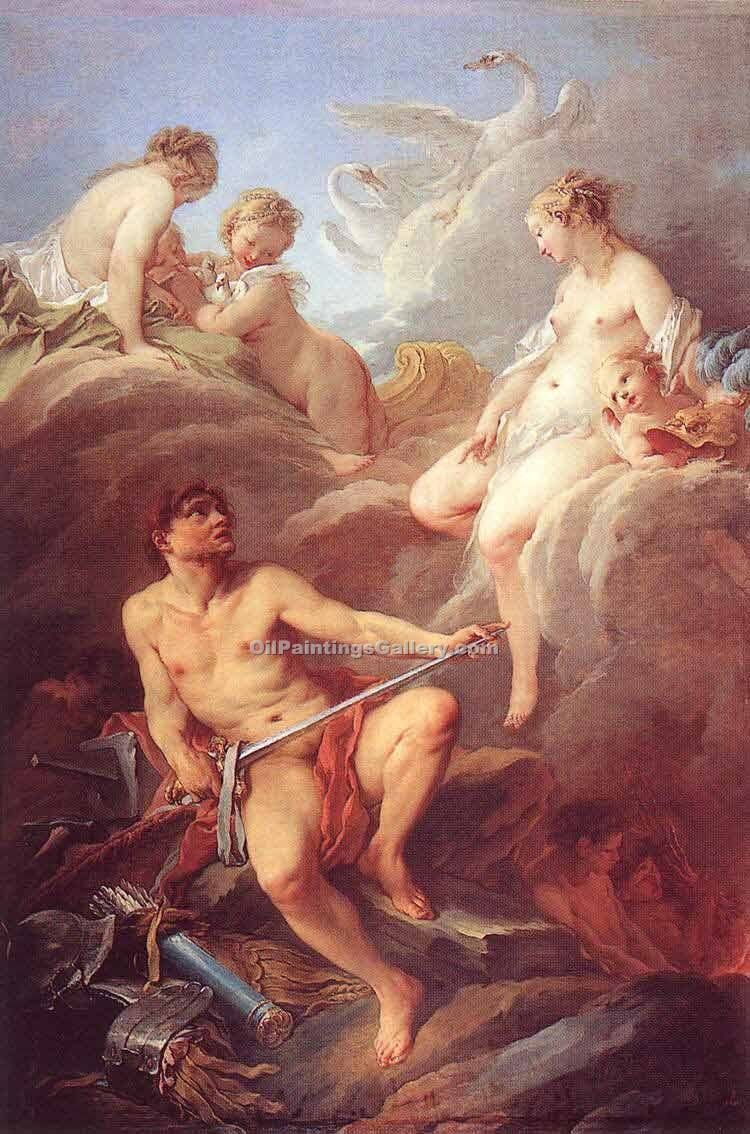 """Venus Demanding Arms from Vulcan for Aeneas"" by  Francois Boucher"