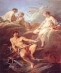 Venus Demanding Arms from Vulcan for Aeneas by  Francois Boucher (Painting ID: CM-0910-KA)