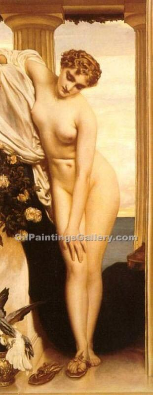 """Venus Disrobing for the Bath"" by   Leighton Frederic"