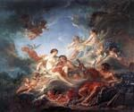 Vulcan Presenting Venus with Arms for Aeneas by  Francois Boucher (Painting ID: CM-1280-KA)