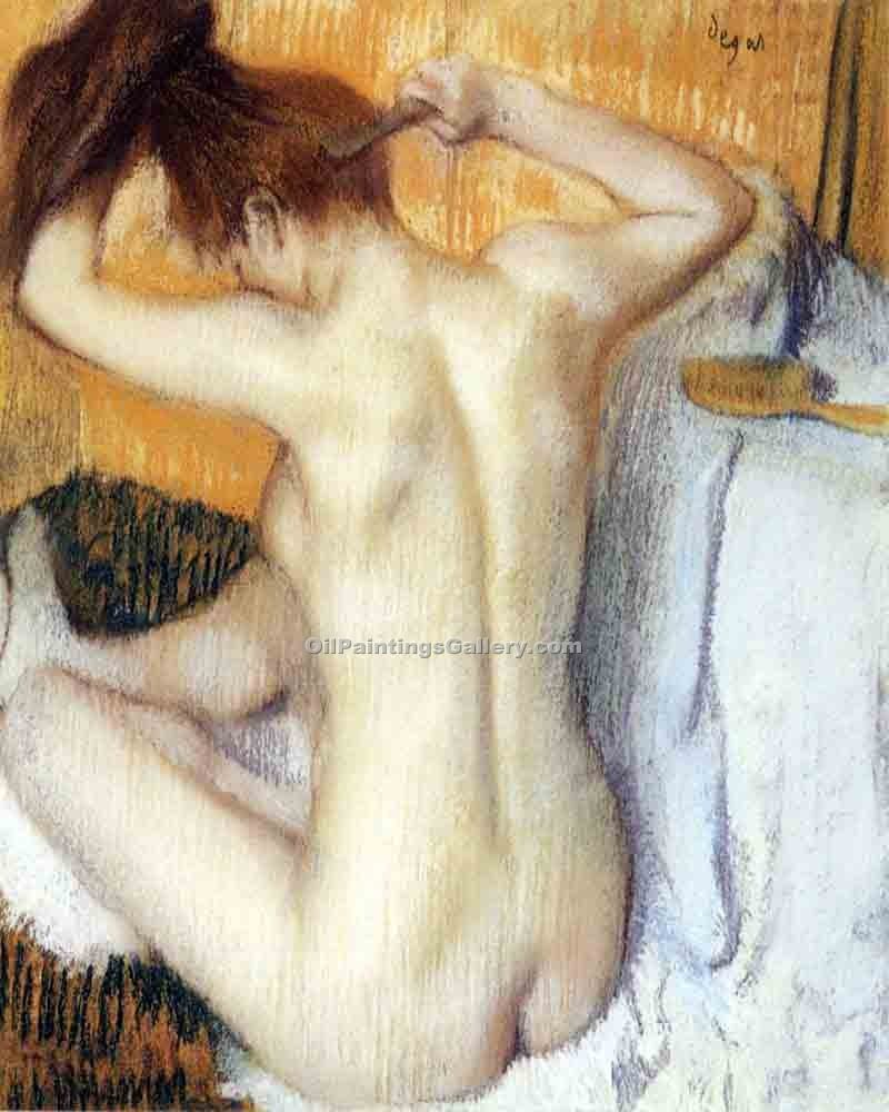 """Woman Combing Her Hair"" by  Edgar Degas"