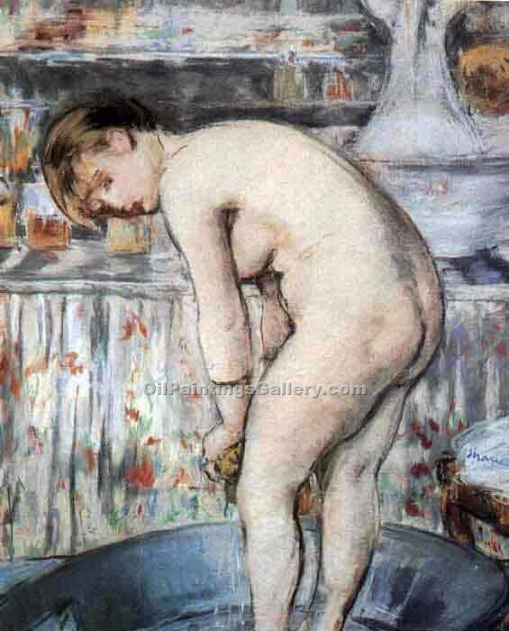 """Woman in a Tub"" by  Edouard Manet"