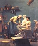 Working in Marble by  Jean Leon Gerome (Painting ID: EI-1193-KA)