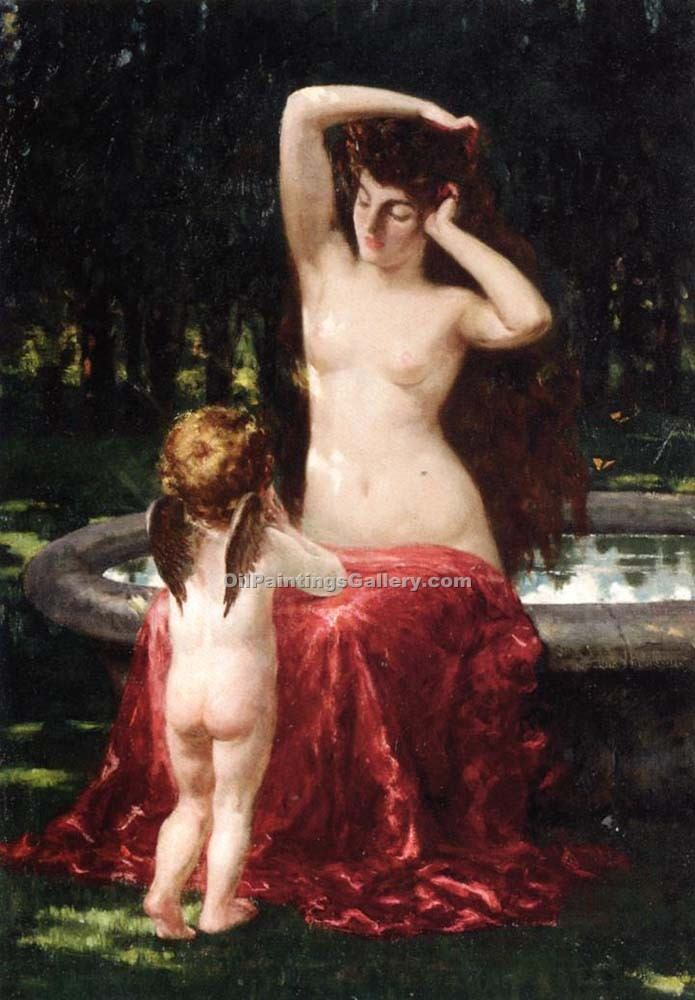 """Ylva Toilette"" by  James Carroll Beckwith"